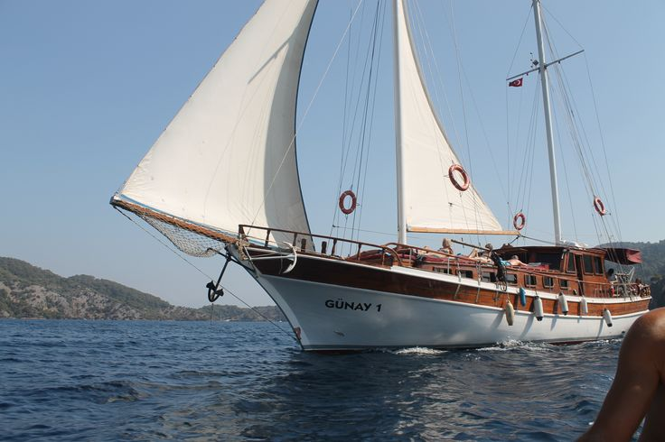 Wonderful sailing 12 islands Gocek on the gulet Gunay 1 in Turkey. It's a great relaxing day out....
