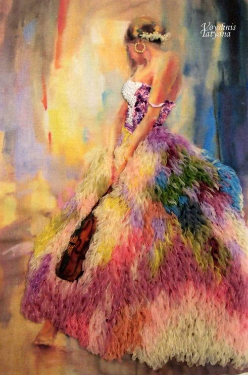 Gallery.ru / Фото #3 - Вышивка лентами по картинам Анны Разумовской - TanyaVoyshnis