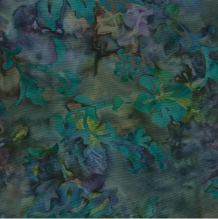 Island Batik Rayon - Teal Blossom