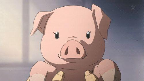 Silver Spoon anime. Yugo Hachiken & piggy