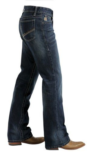 Amazon.com: Cinch Men's Reed Dark Denim Slim Fit Bootcut Jeans Big ...