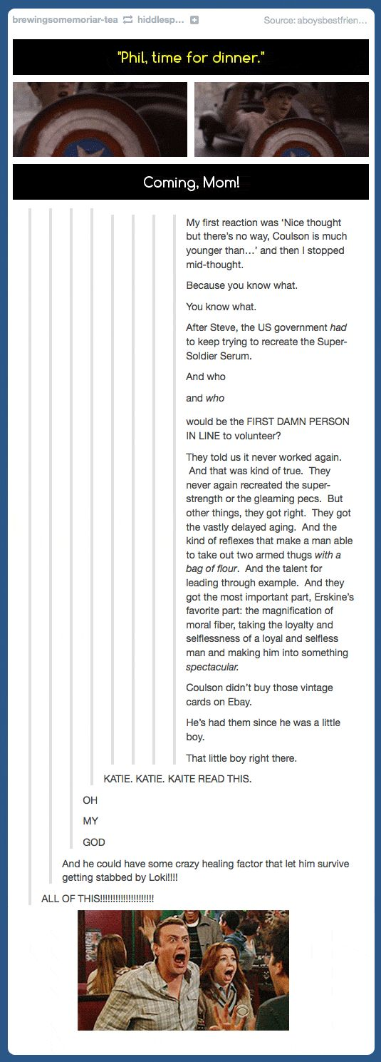 The story of agent Phil Coulson…LAUREN OH MY GOD
