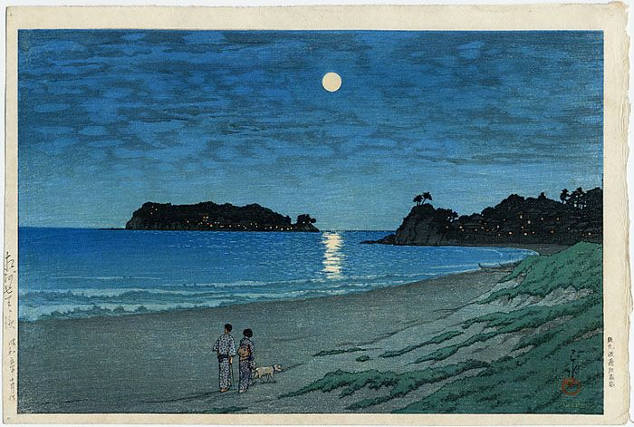 """Shichirigahama, Soshu"" by Hasui, Kawase"