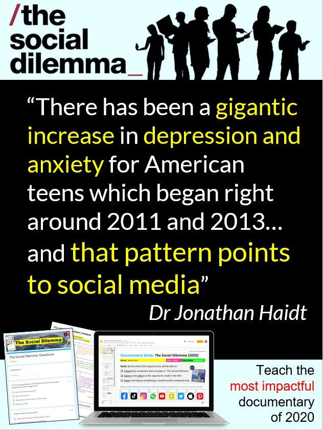 The Social Dilemma Documentary Study Reading Informational Texts Student Encouragement Middle School Reading