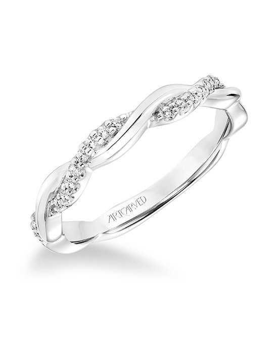 ArtCarved 31-V659W-L White Gold Wedding Ring