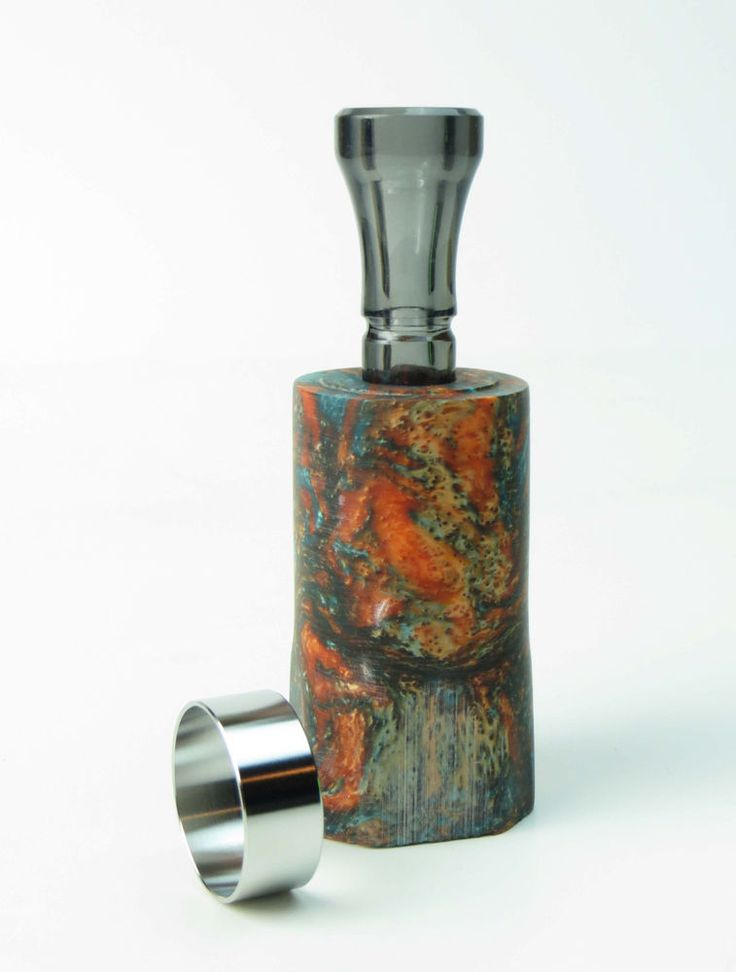 Acrylic Duck Call Kit - Exclusive INDIAN RED BARREL & FLAT BLACK FAT BOY INSERT #DucksUSA