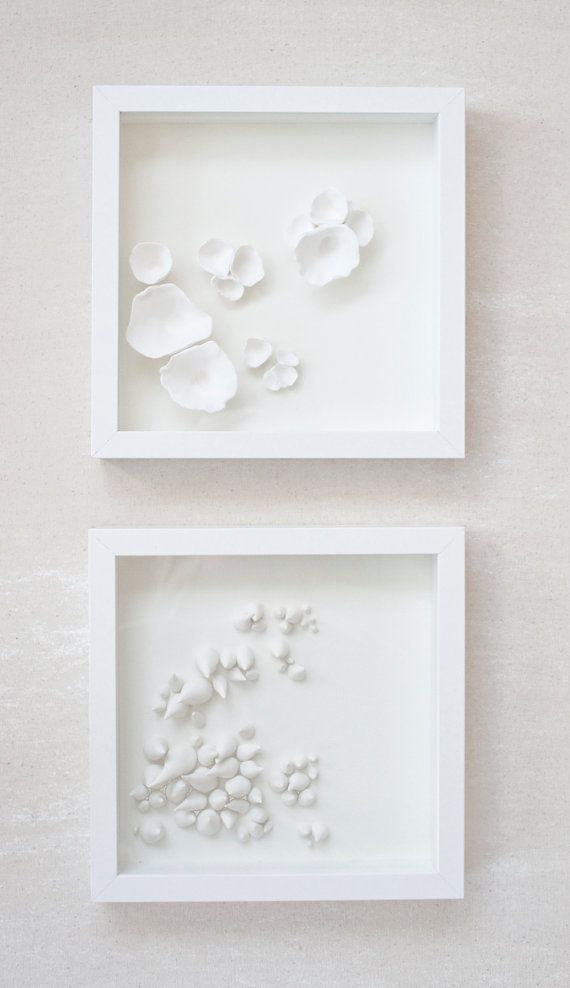 Hand Sculpted Clay Elements Framed in Shadow Box by marianandhazel, $95.00