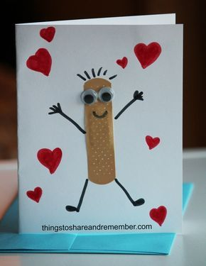 Use a bandaid to create a card that shows how much you care. The tutorial includes a cute song about …