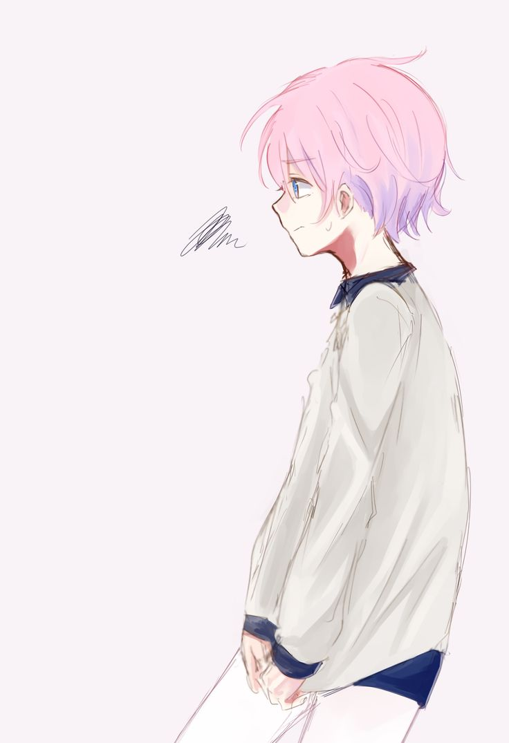 pink-haired anime boys