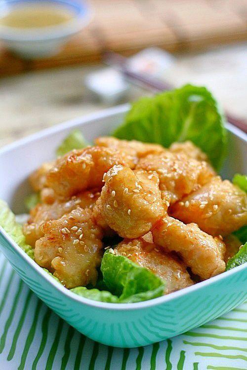 Chinese Honey Chicken   Chinese Honey Chicken Recipe   Easy Asian Recipes at RasaMalaysia.com