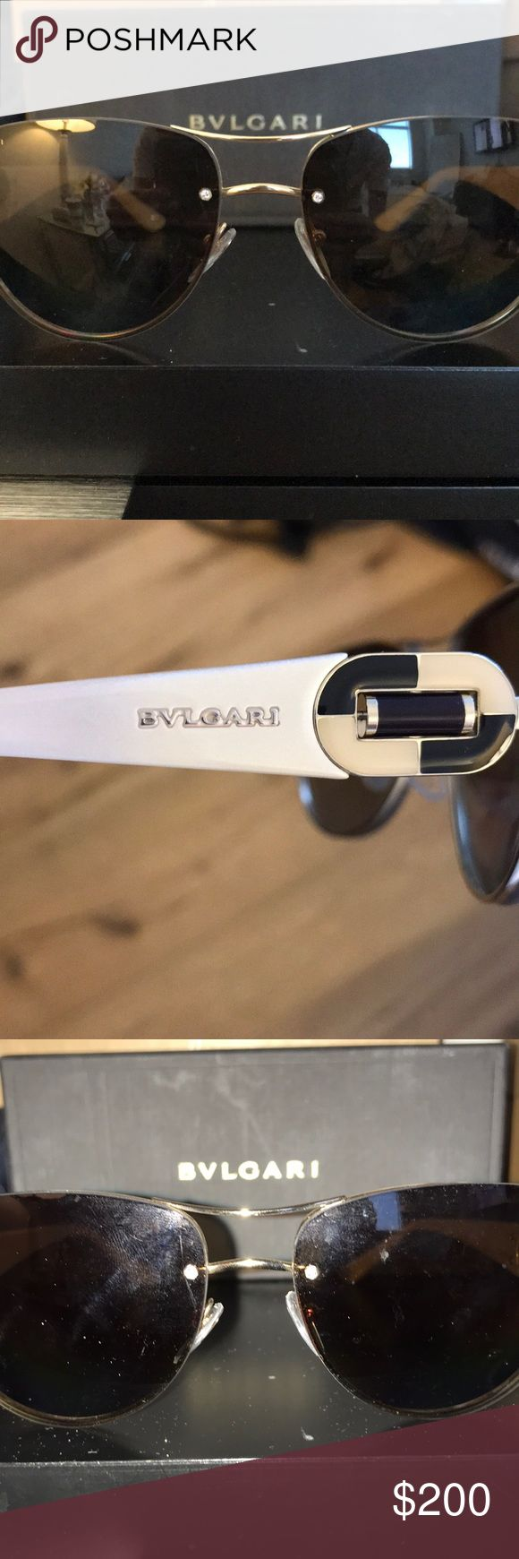 Authentic Bvlgari Sunglasses. W/ Case & Auth Card Authentic Bvlgari Sunglasses. Aviator Style. With Case, Authenticity Card, Duster. Beige & Cream. Worn Twice.    📌 NO TRADES  ❌ NO LOWBALL OFFERS 🛑 NO RUDE COMMENTS  ❗️Please don't discuss prices in the comment box. Please make a reasonable offer and I will either counter, accept or decline. Bulgari Accessories Sunglasses