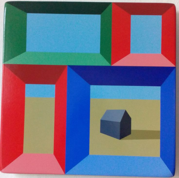 Mindframe 19, Acrylic and Lacquer on Primed Board, (45cm x 45cm), by Darragh Lyons €125