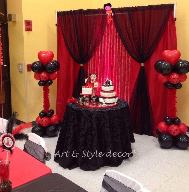 Betty boop cake area decor