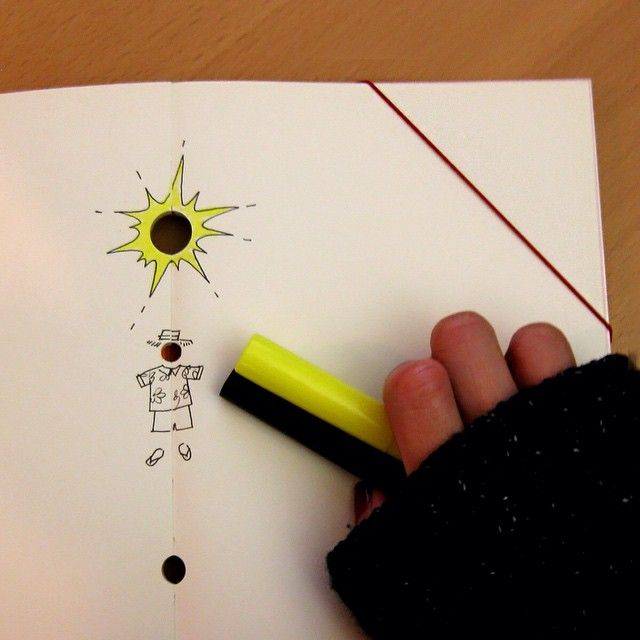 Sometimes you just have to make your own sun! #WinterBlues #PaperOh #BucoNotebook