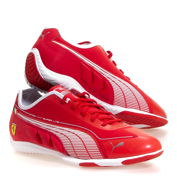Puma Speed Cat Superfit Men's Athletic Shoes: Red/White 7