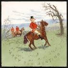 Rare Mintons Studio Tile Arry Out Hunting 1880