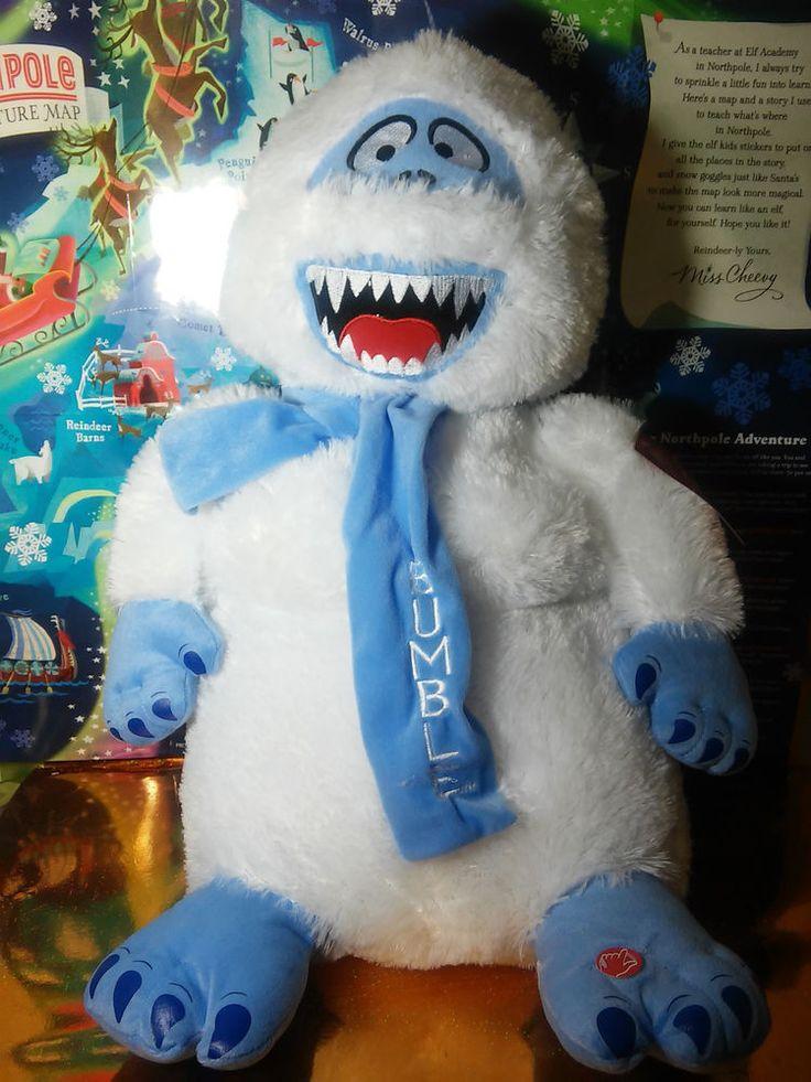 Bumble Large Plush Rudolph Yeti Abominable Snowman Island of Misfit Toys #bumble #rudolph #yeti #islandofmisfittoys #snowman