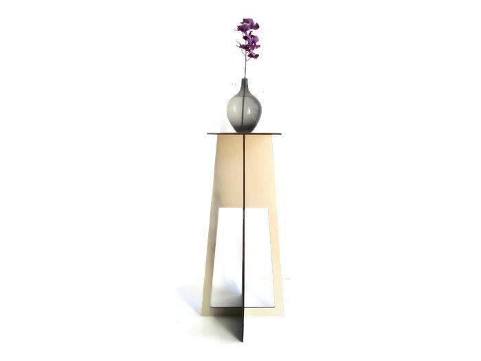Laser cut wood pedestal tableeco furniture homeliving room tablewooden end tablemodern side tablemodern end tablewood minimalist table