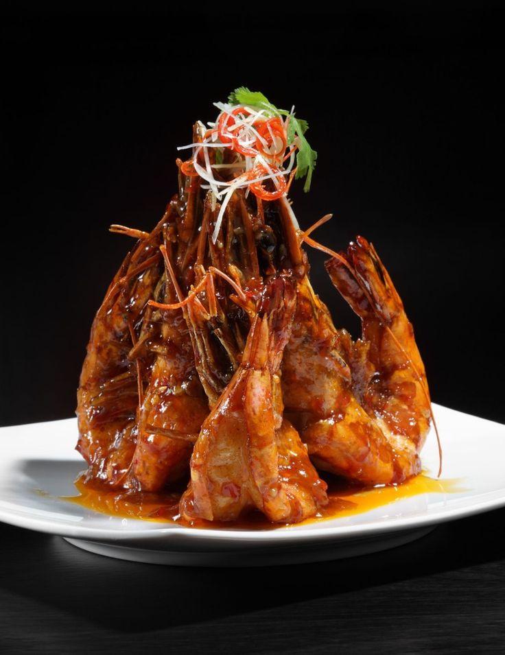 Ресторан «Китайская грамота. Бар и еда», Москва. Жареные королевские креветки с чили и медом