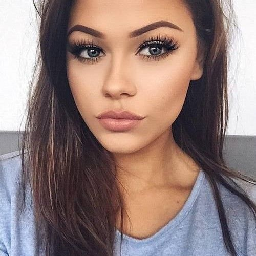 I envy her long and thick lashes