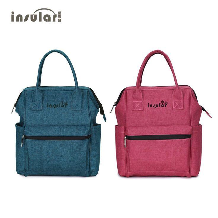 INSULAR Diaper Bag Multifunction Mummy Bag Fashion Maternity Nappy Bag Large Capacity Baby Backpack Daily Nursing Bag Portable