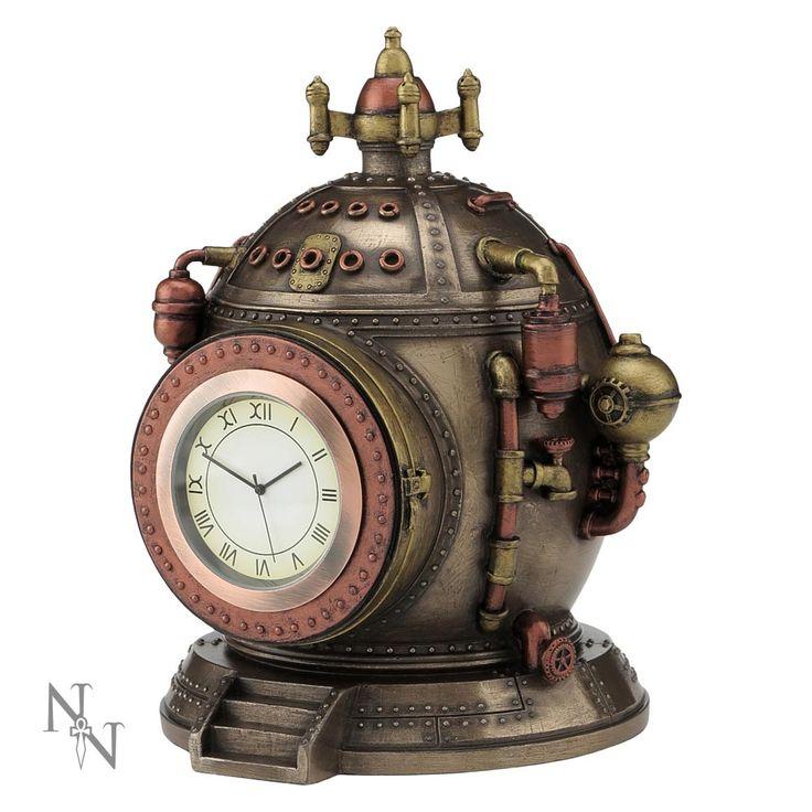 Steampunk Uhr Schatulle in futuristischem Kessel Look | VOODOOMANIACS