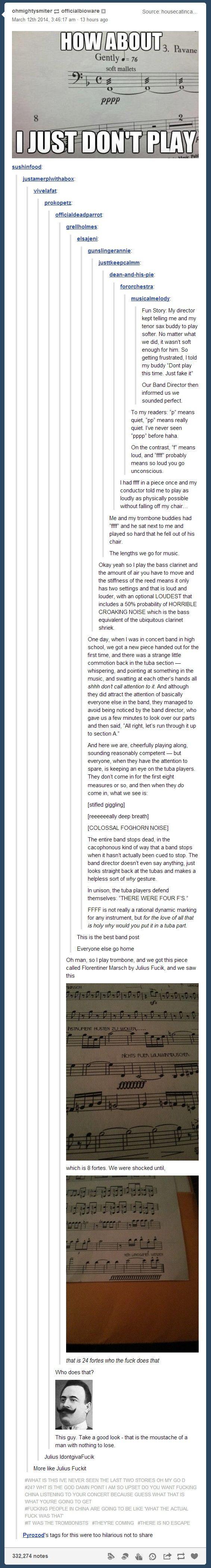 Music volume humor