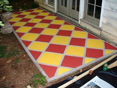 Find This Pin And More On Garden Mural/Wall Ideas. Painting Our Concrete  Patio ...