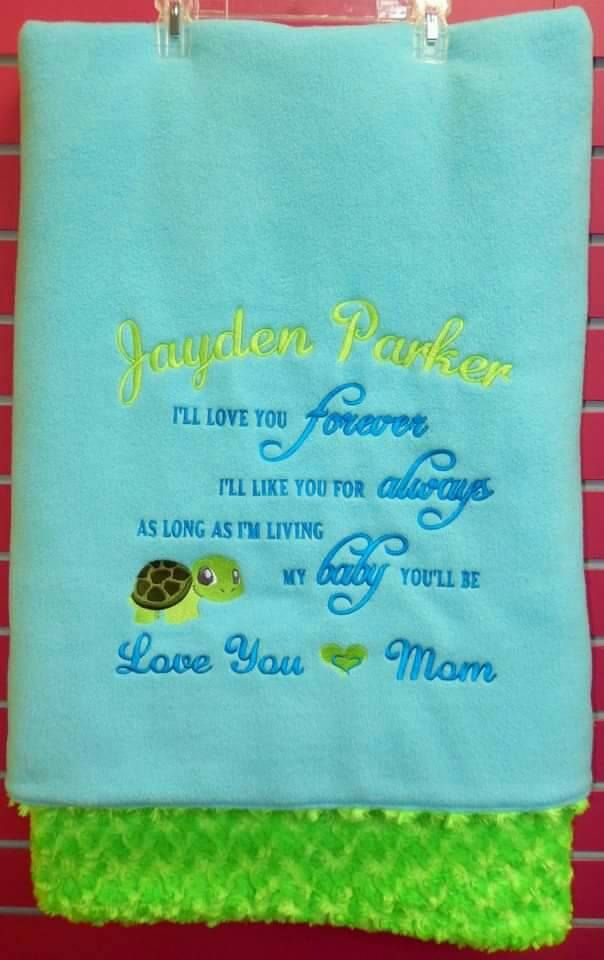 "Embroidered TODDLER Blanket. ""Forever and Always my Baby You will Be Baby"" by SensationalEmb on Etsy"