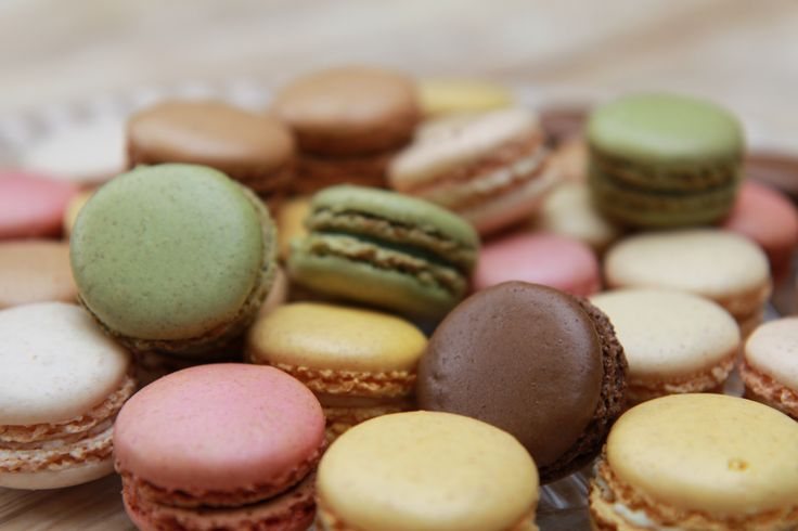 Beautiful macaroons - one of the current 'sweet' crazes available from Cafe 53.