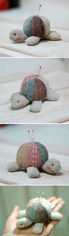 tortoise pin cushion