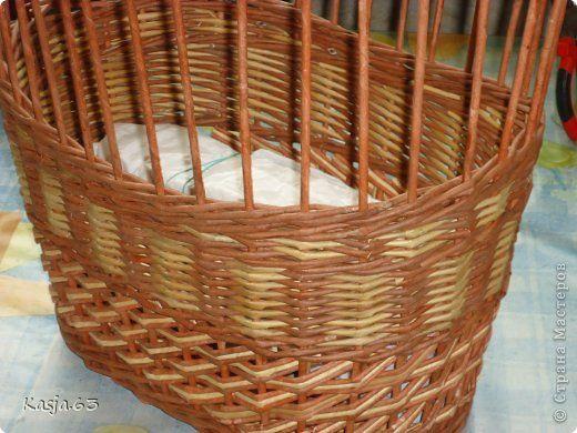 Поделка изделие Плетение И так продолжаем тему плетения обычной корзинки Трубочки бумажные фото 10