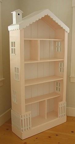 Bookcase Dollhouse / http://www.ebay.com/itm/COTTAGE-STYLE-CUSTOM-WOOD-XL-HUGE-DOLLHOUSE-BOOKCASE-/120333501914?pt=LH_DefaultDomain_0=item1c046f85da#ht_4053wt_1104