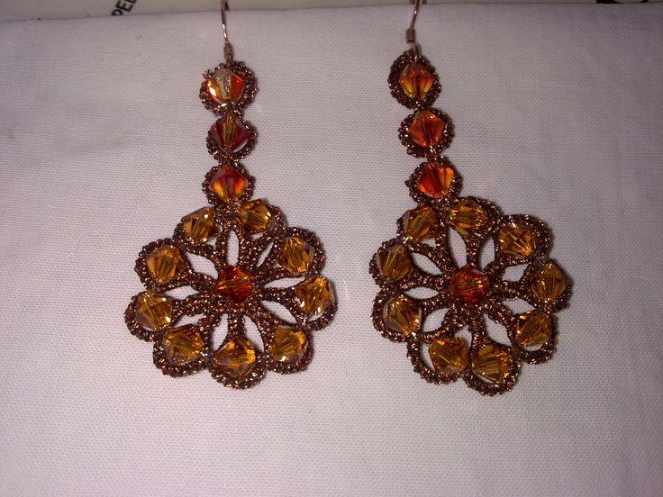orecchini con cristalli swaroski