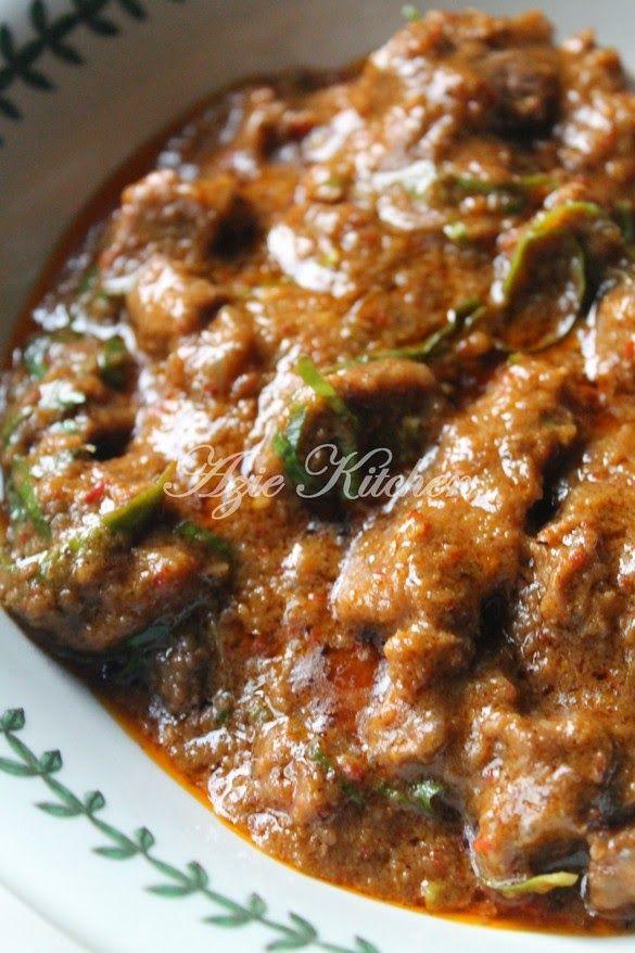 Azie Kitchen: Rendang Daging Untuk Juadah Bersahur