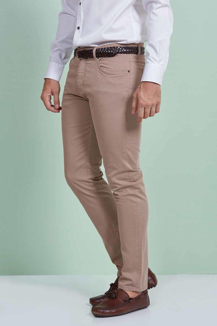 5 Cepli Bej Slim Fit Pamuk Kanvas Pantolon
