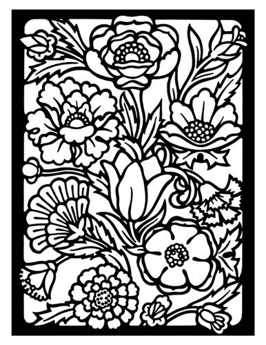 .Glasses Colors, Embroidery Pattern, For Kids, Coloring Pages, Dover Stained, Drawing Fun, Flower Stained, Colors Pages, Stained Glasses