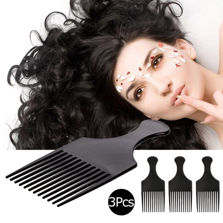 Anself 3PCS Hair Brush Comb Afro Comb Curly Hairdressing Styling Tool *** Click image for more details. #hairaccessories
