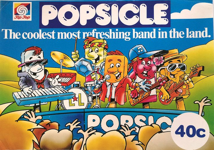 1980s Tip Top Popsicle Band Poster