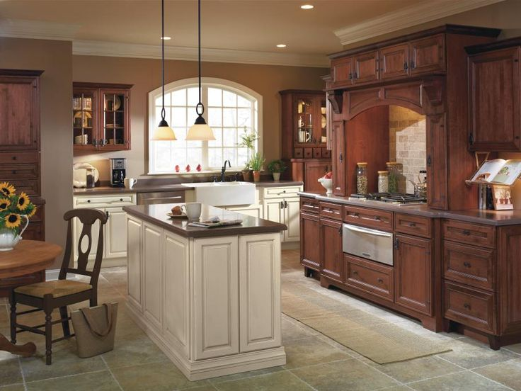33 best images about rustic style cabinets on pinterest for Almond colored kitchen cabinets