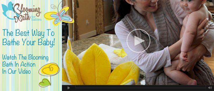 Blooming Bath Baby Bath makes a great alternative to plastic baby bath tubs