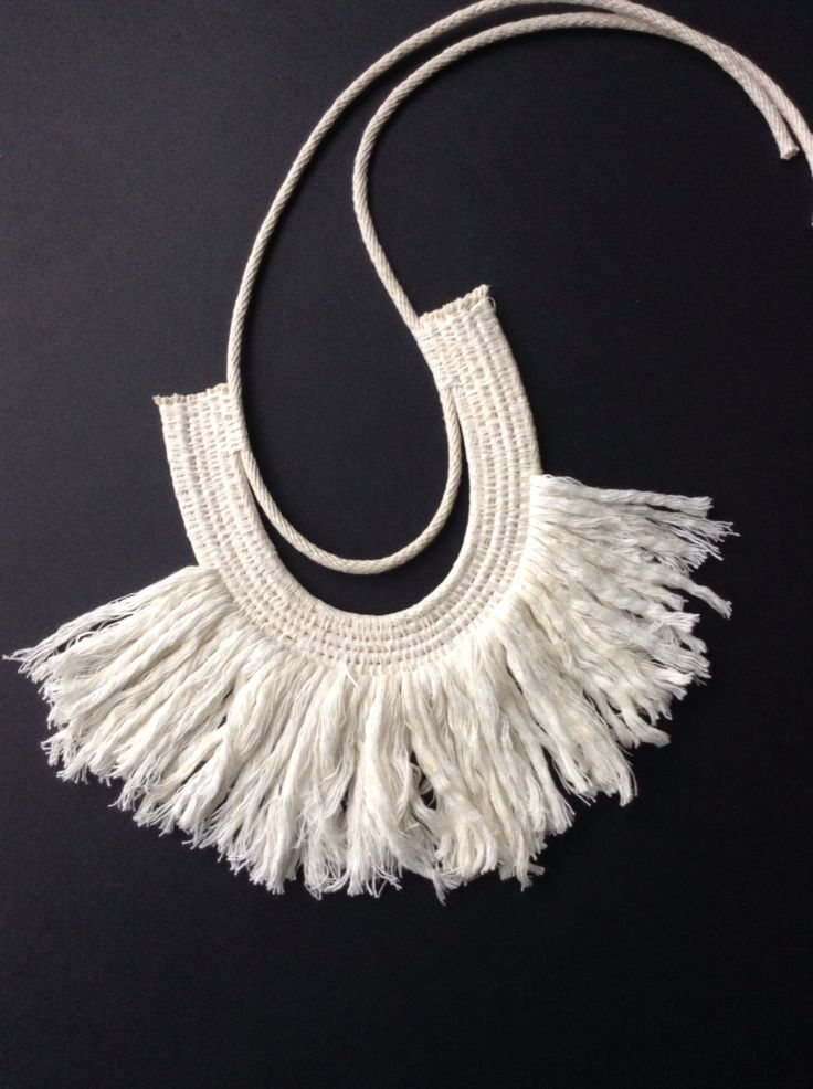 Woven rope necklace by a Ouch Flower