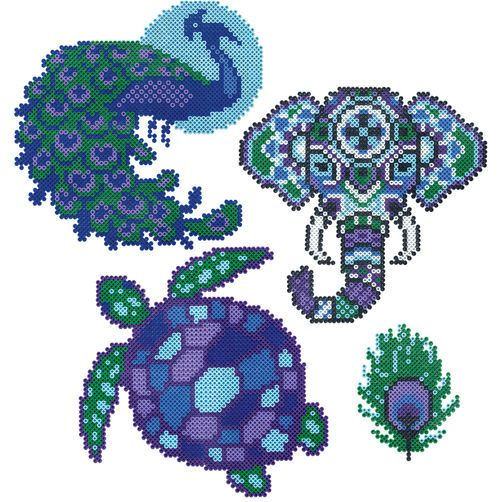 Mini Beads Peacock, Elephant, and Turtle With Mini Beads, you can achieve all this amazing detail at a small size!