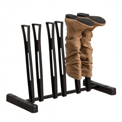 Black Boot Rack 3 Pair