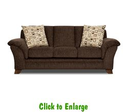 Jensen Espresso Sofa by Corinthian at Furniture Warehouse | The $399 Sofa Store | Nashville, TN