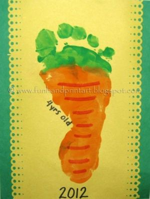 Handprint and Footprint Arts & Crafts: Footprint Carrot Craft by ora