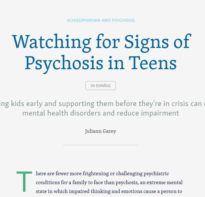 Watching For Signs Of Psychosis In Teens >> Pin On Mental Health Awareness