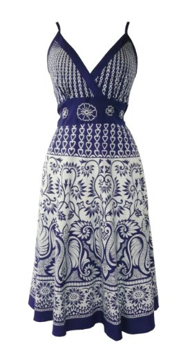 Love it!  Another pinned suggested cowboy boots to got with this: 511 Heart & Floral Summer Sun Dress Blue