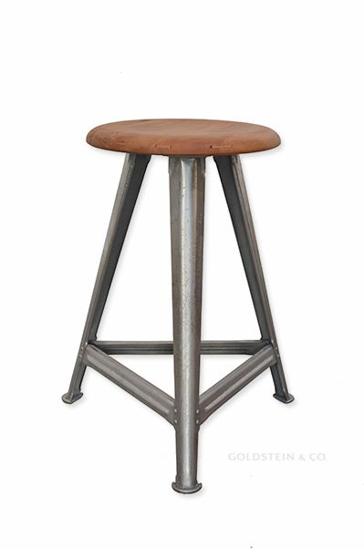 rowac work stool the steel frame has been sandblasted brushed and waxed while the beechwood. Black Bedroom Furniture Sets. Home Design Ideas