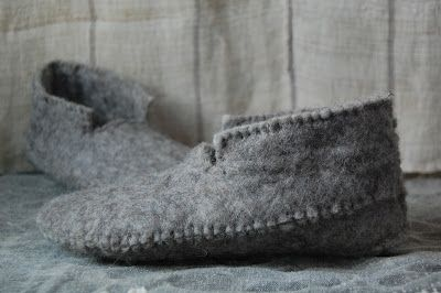 for the cold days- 'stephanie's sewn felt slippers' free pattern at martha stewart